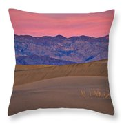 Dawn At Mesquite Flat #3 - Death Valley Throw Pillow