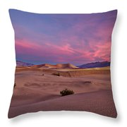 Dawn At Mesquite Flats #2 - Death Valley Throw Pillow