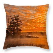 Dawn At Oakfield Provincial Park Throw Pillow
