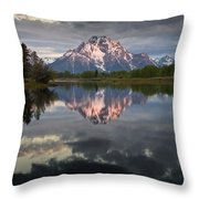 Dawn At Oxbow Bend Throw Pillow