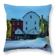 Dawn At Phelps Mill Throw Pillow