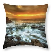 Dawn At Porthcawl Throw Pillow