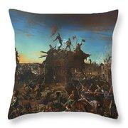 Dawn At The Alamo Throw Pillow
