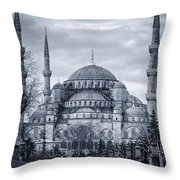 Dawn At The Blue Mosque Throw Pillow