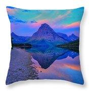 Dawn At Two Medicine Lake Throw Pillow