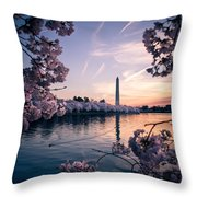 Dawn Blossoms Throw Pillow