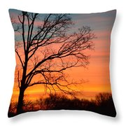 Dawn Has Cracked Throw Pillow