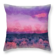 Dawn In Taos In Aquarelle Throw Pillow