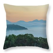 Dawn In The Smokies Throw Pillow