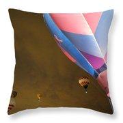 Dawn Launch Balloon Fiestas Albuquerque New Mexico  Throw Pillow