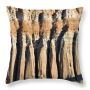 Dawn Light On The Cliffs At Red Rock Throw Pillow