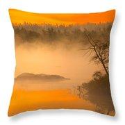 Dawn Mists Throw Pillow