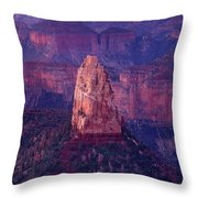 Dawn Mount Hayden Point Imperial North Rim Grand Canyon National Park Arizona Throw Pillow by Dave Welling