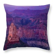Dawn Mount Hayden Sunrise North Rim Grand Canyon Arizona Throw Pillow by Dave Welling
