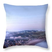 Dawn Of Etretat Throw Pillow