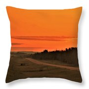 Dawn On Highway 61 Throw Pillow
