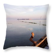 Dawn On Lagoon Throw Pillow