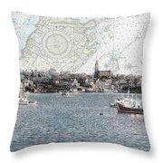 Dawn On Marblehead Harbor Throw Pillow