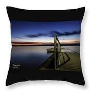 Dawn On Skaneateles Lake Throw Pillow