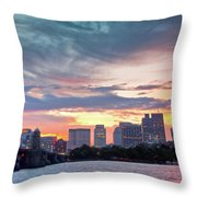 Dawn On The Charles River Throw Pillow by Susan Cole Kelly