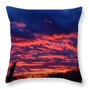 Dawn On The Farm Throw Pillow