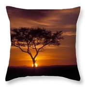 Dawn On The Masai Mara Throw Pillow