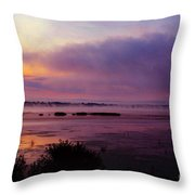 Dawn On The Mississippi Throw Pillow