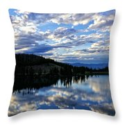 Dawn Over Big Sky Throw Pillow