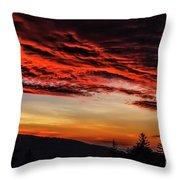 Dawn Over Big Spruce Knob Throw Pillow