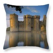 Dawn Over Bodiam Castle Throw Pillow