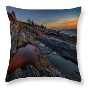 Dawn Over Pemaquid Point Throw Pillow