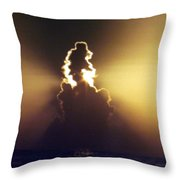 Dawn Over The Atlantic Throw Pillow
