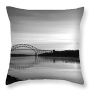 Dawn Over The Cape Cod Canal Throw Pillow