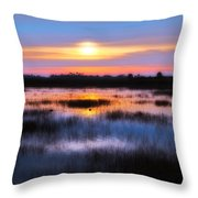 Dawn Over The Salt Marsh Throw Pillow