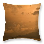 Dawn Over The Volcano 3 Throw Pillow