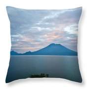 Dawn Over The Volcano 4 Throw Pillow