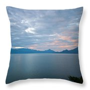 Dawn Over The Volcano 5 Throw Pillow