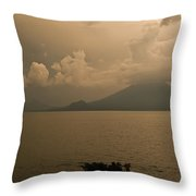 Dawn Over The Volcano Throw Pillow
