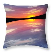 Dawn Sky And Water Throw Pillow