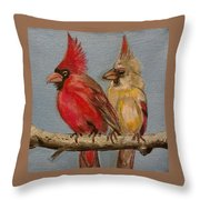 Dawn's Cardinals Throw Pillow