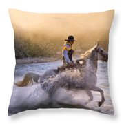 Dawn's Misty Waters Throw Pillow