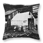 Dawson City, C1900 Throw Pillow