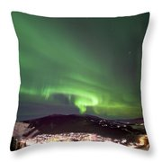 Dawson City Lights Throw Pillow
