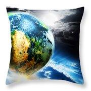 Day 4 Throw Pillow by Lourry Legarde