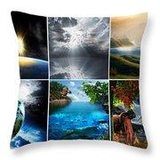 Day 7 Throw Pillow by Lourry Legarde