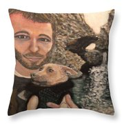 Day At A Waterfall Throw Pillow