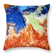 Day At The Beach #3 Throw Pillow