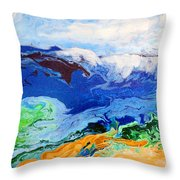 Day At The Beach #6 Throw Pillow