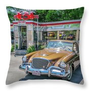 Day At The Diner Throw Pillow