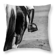 Day At The Dressage Throw Pillow